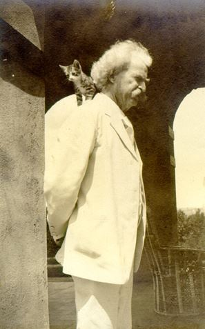 twain and a cat